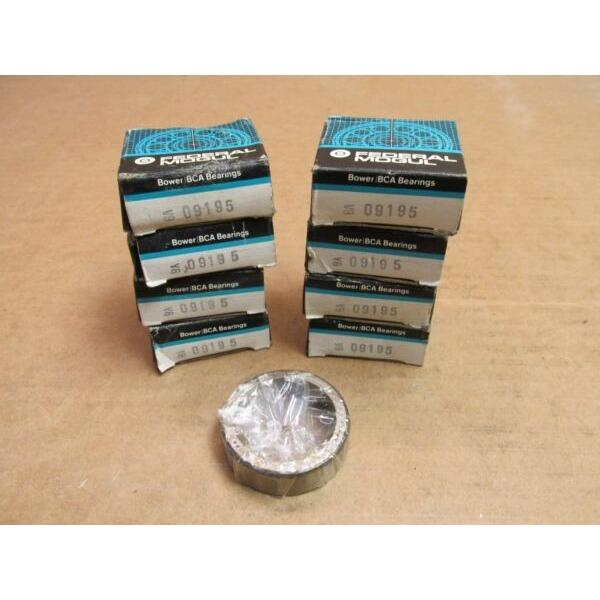 8 NEW BOWER BCA 09195 TAPERED ROLLER BEARING CUP/RACE 09 195  LOT OF 8